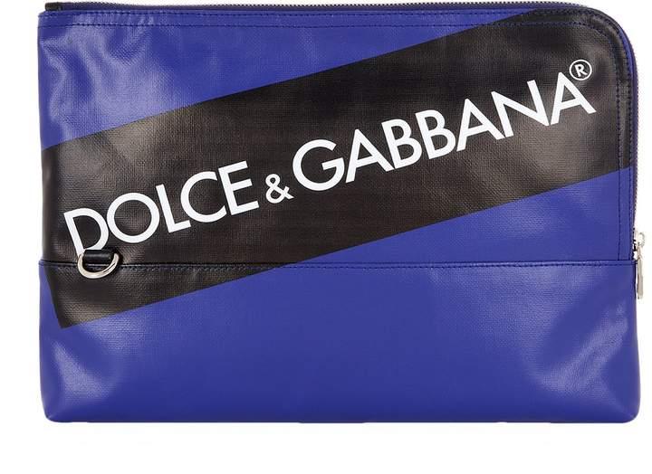 Dolce & Gabbana Zip-Around Logo Pouch
