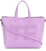 Tom Ford perforated logo shopper tote