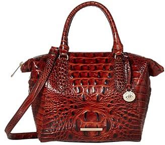 Brahmin Melbourne Mini Camila Satchel (Pecan) Satchel Handbags
