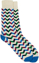 Barneys New York MEN'S ZIGZAG TROUSER SOCKS