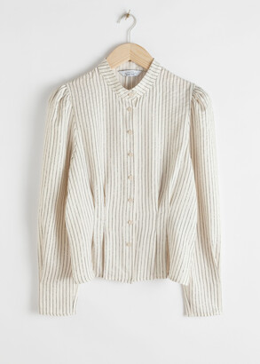 And other stories Glitter Striped Button Up Blouse