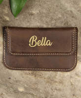 Cabany Co Card Holders Brown - Brown Best Personalized Business Card Holder