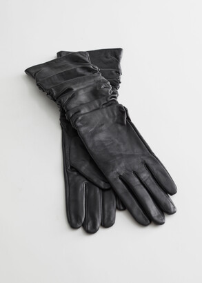 And other stories Ruched Leather Gloves