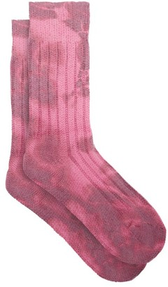 The Elder Statesman Yosemite Tie-dye Cashmere Socks - Pink Multi
