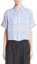 Julien David Women's Wave Print Silk Shirt