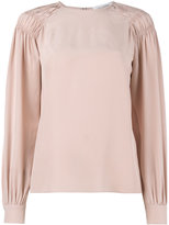 Valentino ruched shoulder blouse