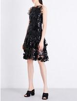 Rodarte Sequin-embellished honeycomb-lace dress