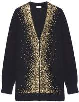Saint Laurent Glitter Appliqued Cardigan