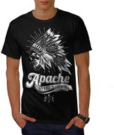 Apache Apparel Skull USA Native Men NEW XXXL T-shirt | Wellcoda
