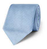 HUGO BOSS 7.5cm Woven Silk Tie - Sky blue
