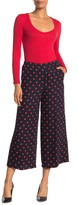 Theory Raoka Polka Dot Wide Leg Silk Pants