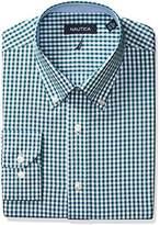 Nautica Men's Gingham Buttondown Collar Dress Shirt