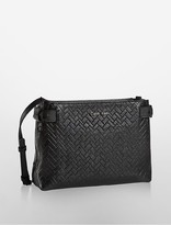 Calvin Klein Scarlett Embossed Zip Top Crossbody Bag