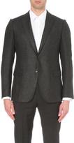 Armani Collezioni Modern-fit textured wool-blend jacket