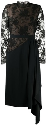 Alexander McQueen Lace Draped Dress