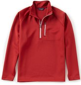 Roundtree & Yorke Quarter Zip Contrast Pullover Sweater