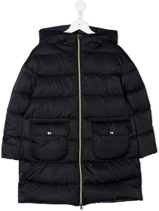 Herno Panelled Zip-Up Coat
