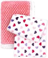 Tadpoles Popcorn Plush & Hearts Stroller Blankets