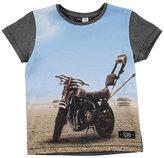 Molo Runi Scorpion Bike Jersey Tee, Gray, Size 4-12