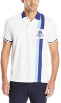 U.S. Polo Assn. Men's Vertical Stripe Logo Patch Pique Polo Shirt