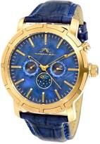 Porsamo Bleu Men's NYC Stainless Steel Blue Dial Moon Watch