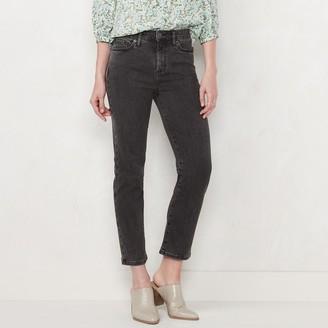 Lauren Conrad Women's High-Waisted Slim Straight Jeans