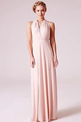Goddiva Revie London Alexis Blush Maxi Dress