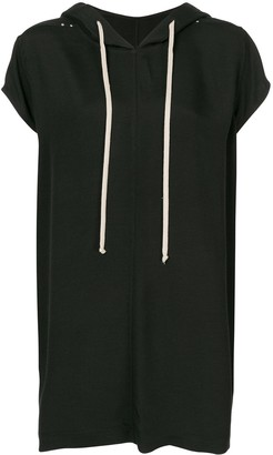 Rick Owens Short-Sleeved Loose-Fit Hoodie