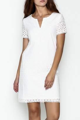 Jade Eyelet Cap Sleeve Dress