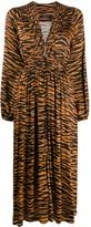 Andamane zebra print midi dress