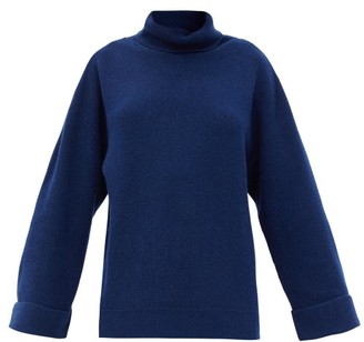 A.P.C. Big Roll-neck Wool-blend Sweater - Navy