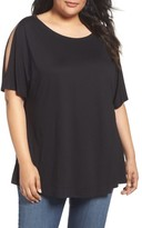 Sejour Plus Size Women's Cold Shoulder Tee