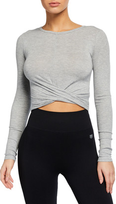 Alo Yoga Cross-Front Long-Sleeve Crop Top