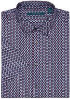 Perry Ellis Short Sleeve Geometric Floral Shirt