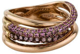 LeVian Le Vian Pink Sapphire Crossover Ring