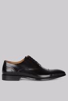 Hardy Amies Black Toe Cap Derby Shoes