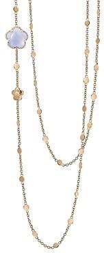 Pasquale Bruni 18K Rose Gold Bon Ton Floral Blue Chalcedony & Diamond Necklace, 40