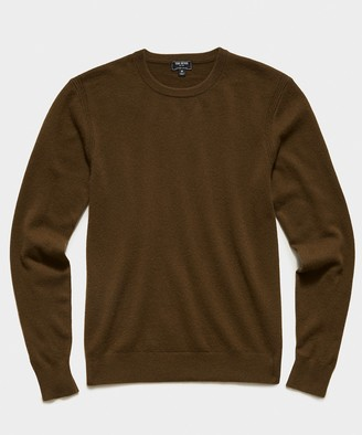 Todd Snyder Cashmere Crewneck Sweater in Olive