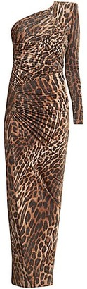 Alexandre Vauthier One-Shoulder Leopard Gown