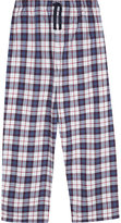 The Little White Company Check print cotton pyjama bottoms 7-12 years