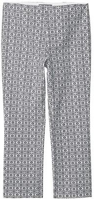 Elliott Lauren Tile Prints Invisible Zipper Ankle Pants (Black/White) Women's Casual Pants