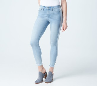 Laurie Felt Silky Denim Side Stripe Zip Fly Jeans
