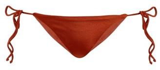 JADE SWIM Side-tie Bikini Briefs - Womens - Dark Red