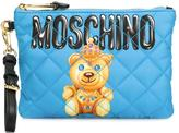 Moschino jewelled bear clutch - women - Leather/Polyester - One Size