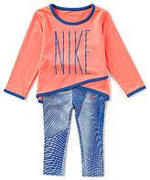 Nike Baby Girls 12-24 DriFit Sport Essentials Crossover Tunic & Printed Legging Set