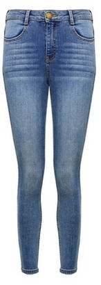 Dorothy Perkins Womens Dp Petite Blue Mid Wash Shaping Denim Jeans, Blue