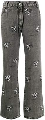 Off-White floral print jeans