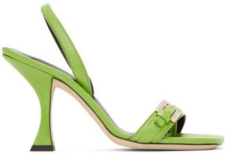 BY FAR Green Carlotta Sandals