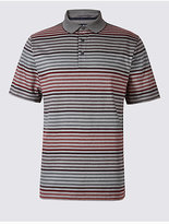 Blue Harbour Pure Cotton Striped Polo Shirt