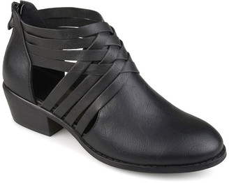 Journee Collection Thelma Weaves Ankle Strap Bootie